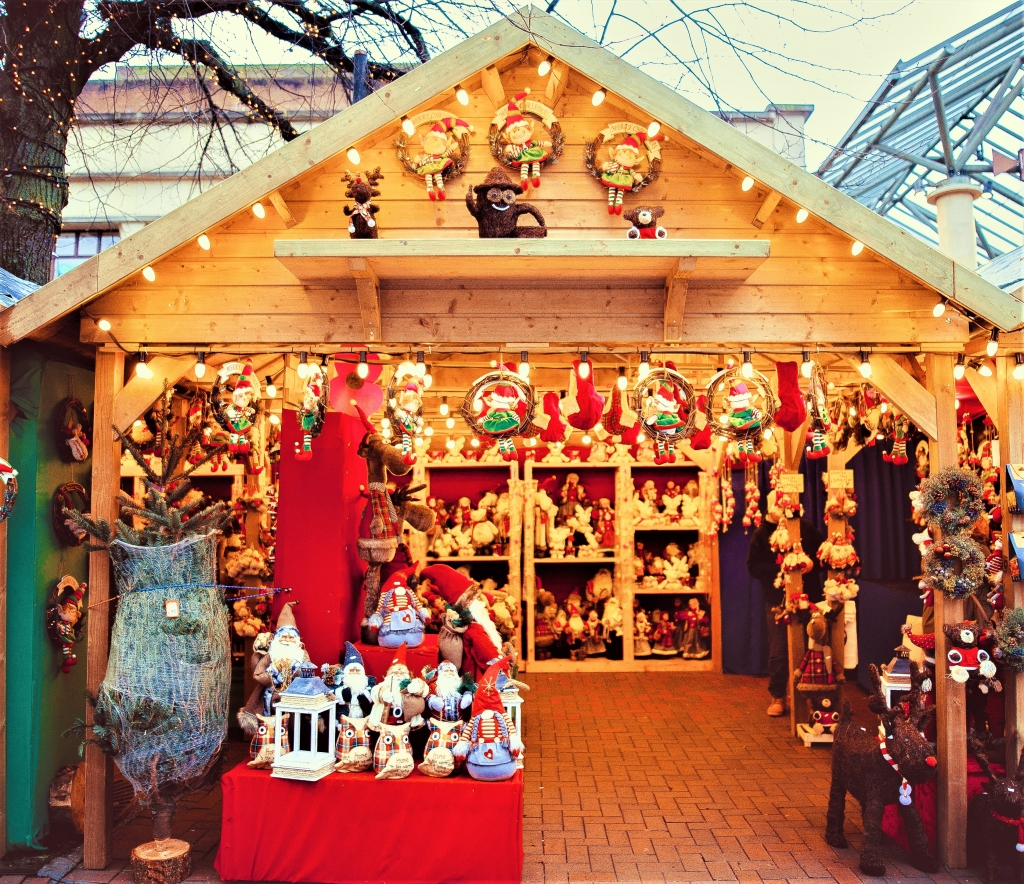 Traditional Christmas market chalet