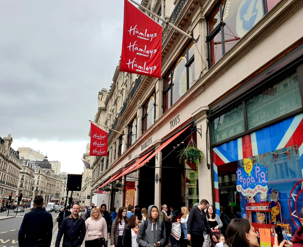 Hamley's store front, London