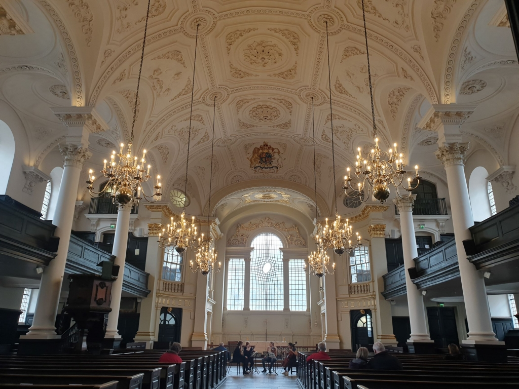 The beautiful church of St Martin-in-the-Fields, London