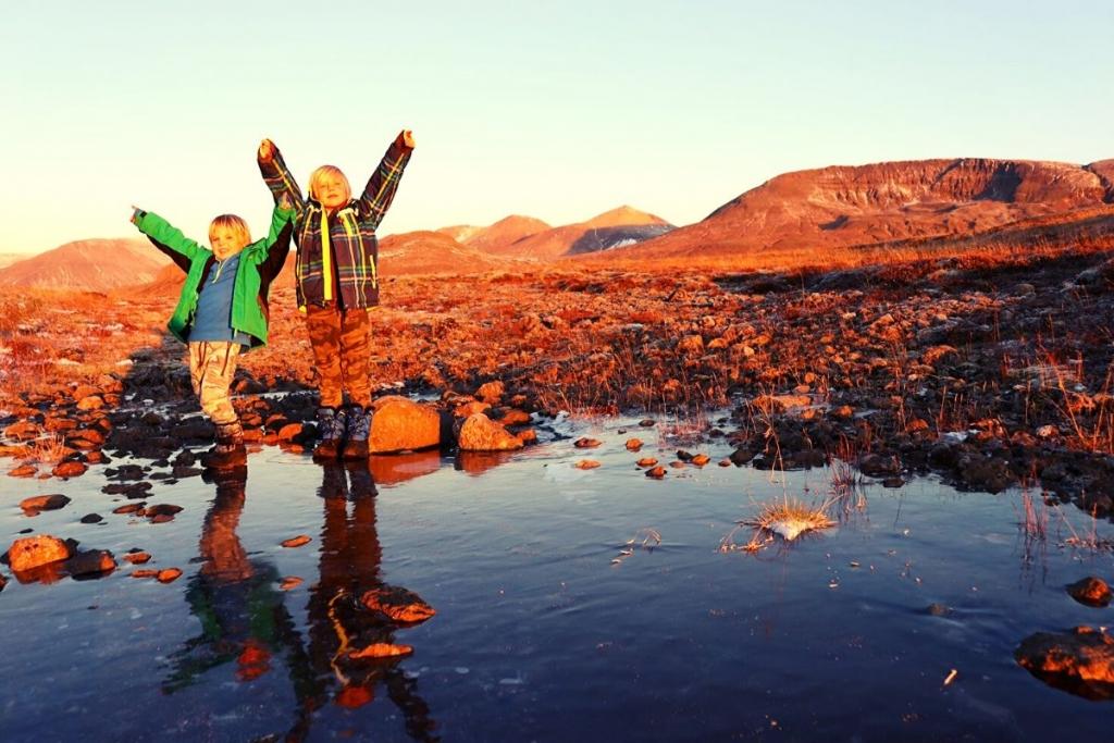 Iceland landscape at sunrise