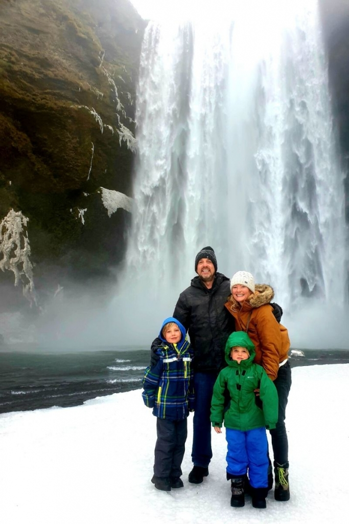 Skogafoss with the family