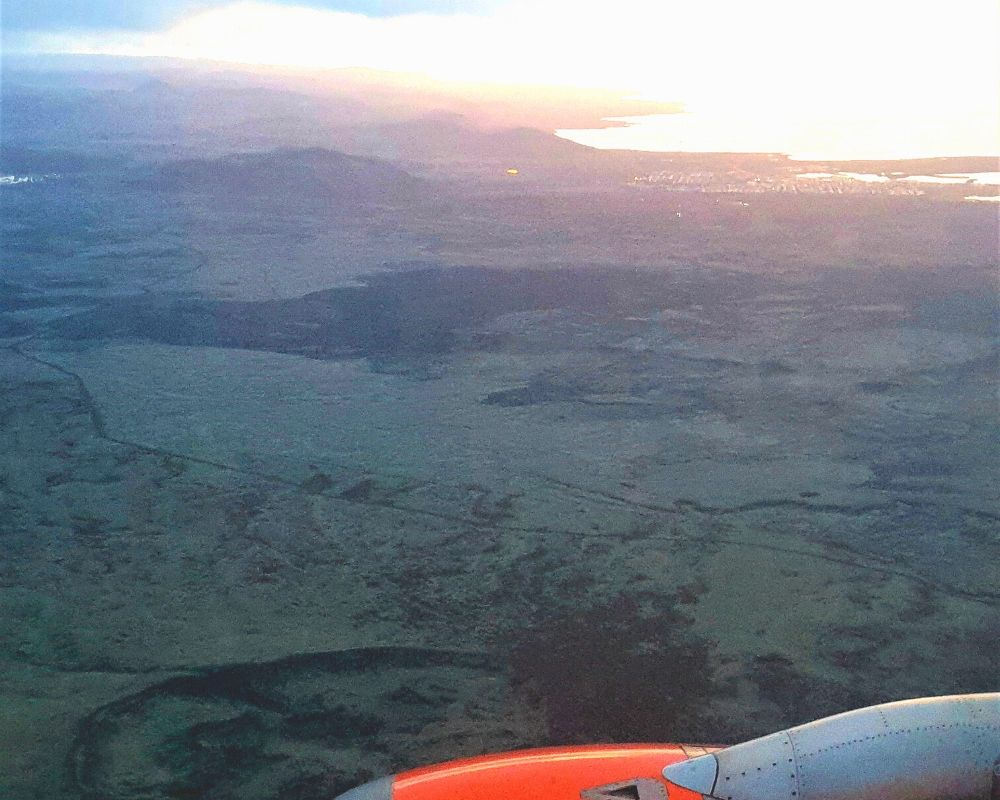 Easyjet flight from London to Iceland
