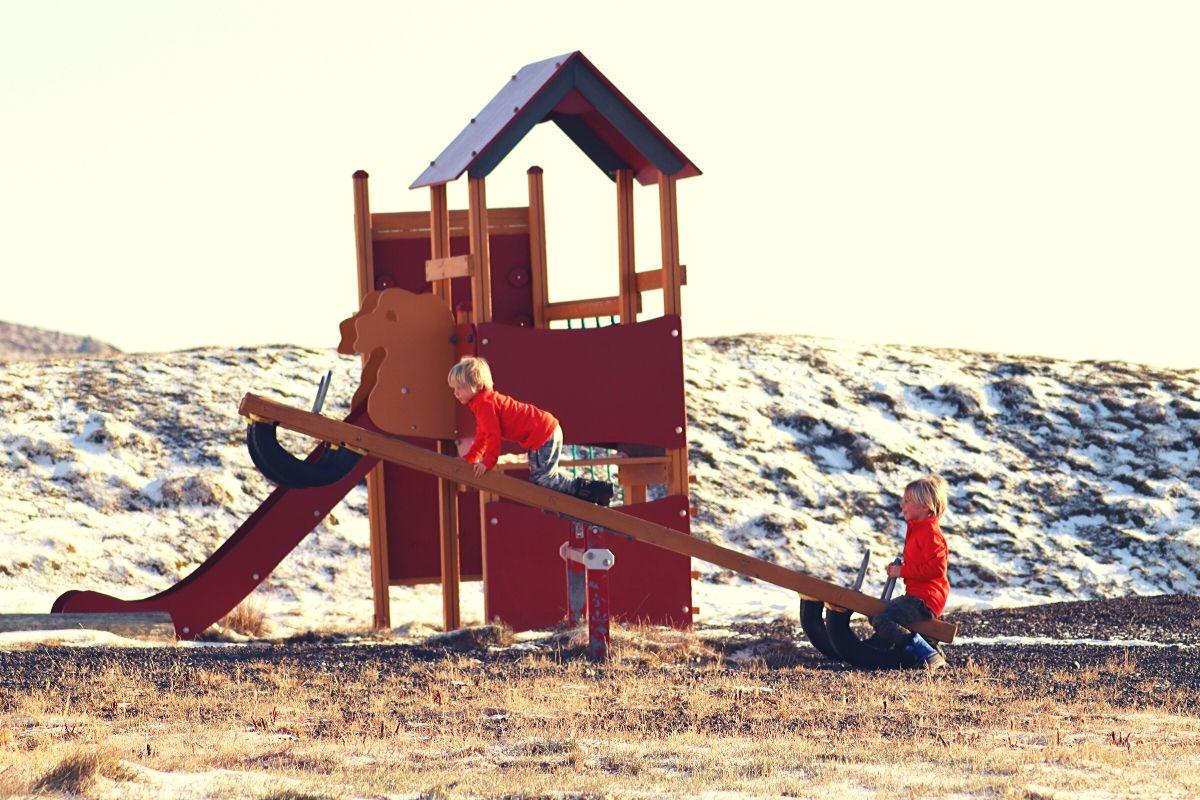 playground at Lýsuhólslaug