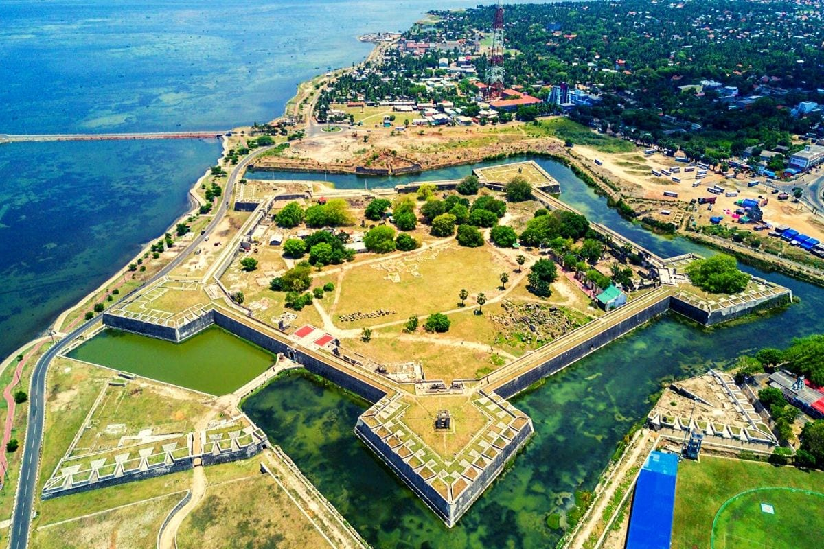 Jaffna Fort aerial view