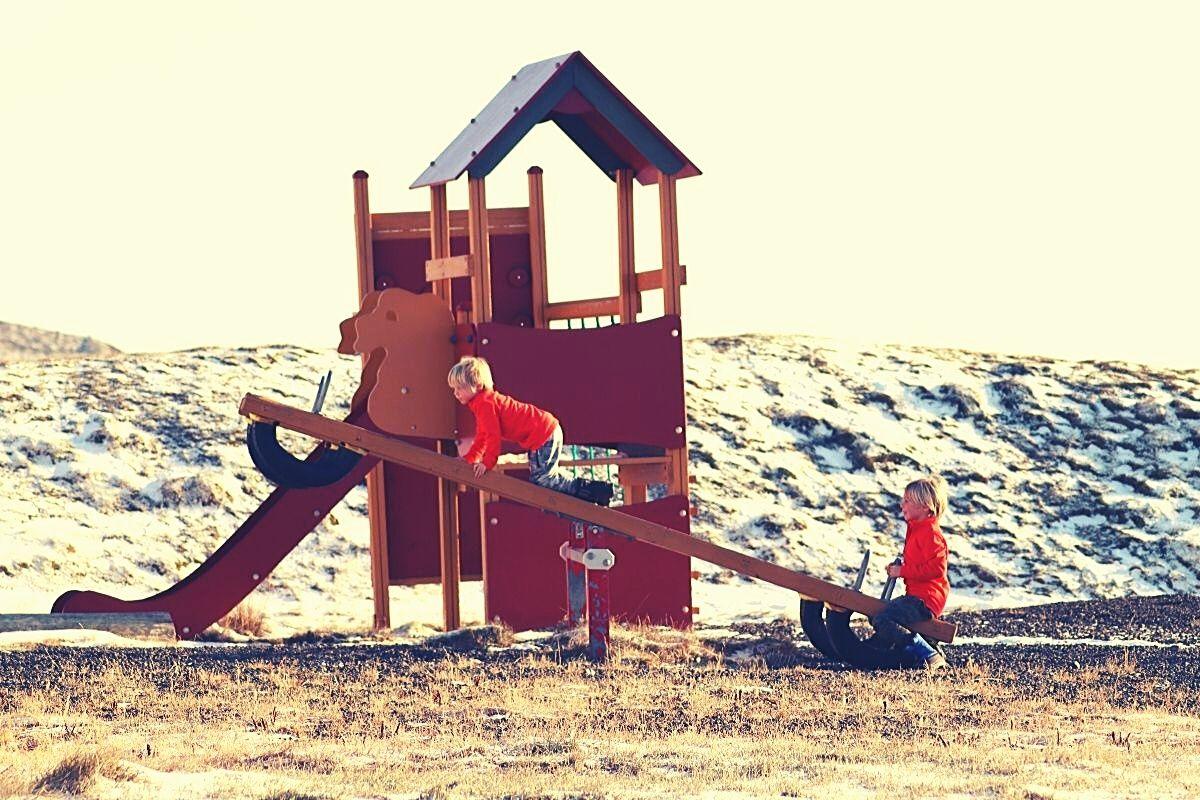 The playground at Lýsuhólslaug