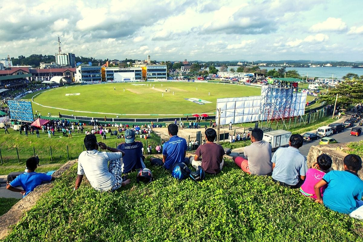 cricket match in Galle