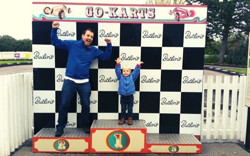 Go Karting at Butlins Minehead.