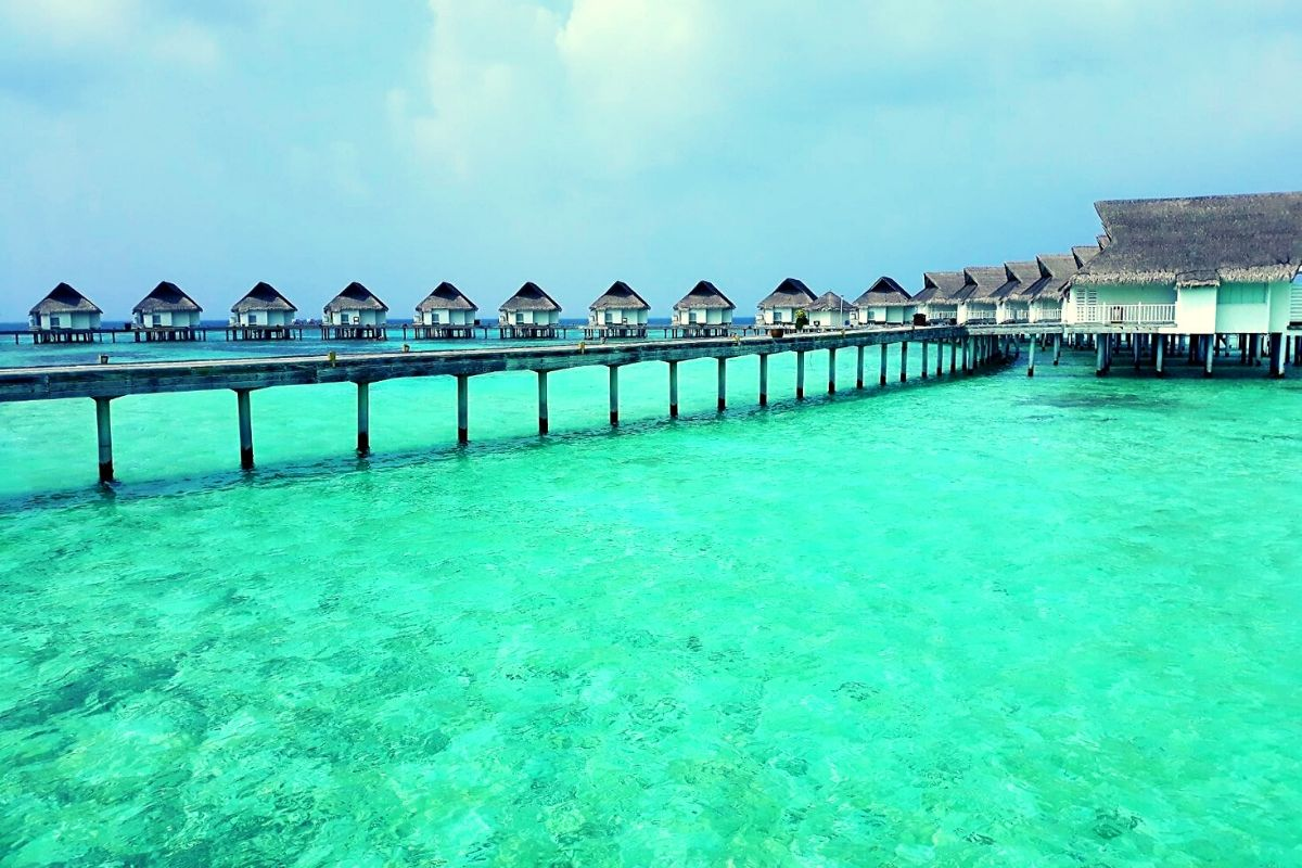 Over water villas at the Centara Grand Island Resort & Spa Maldives