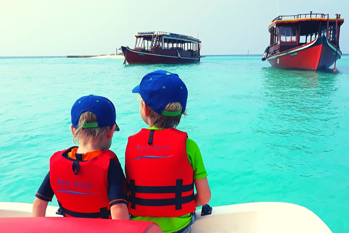 Pedalo excursion in the Maldives