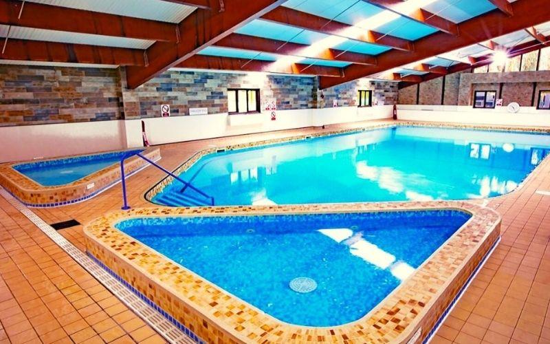 Sandy Balls Holiday Village pool area.