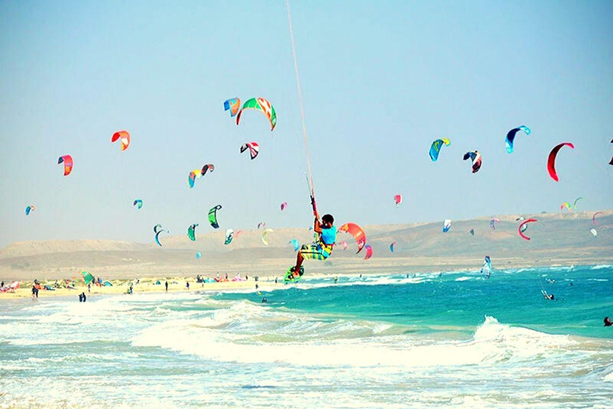 Kite Surfing in Sal Cape Verde