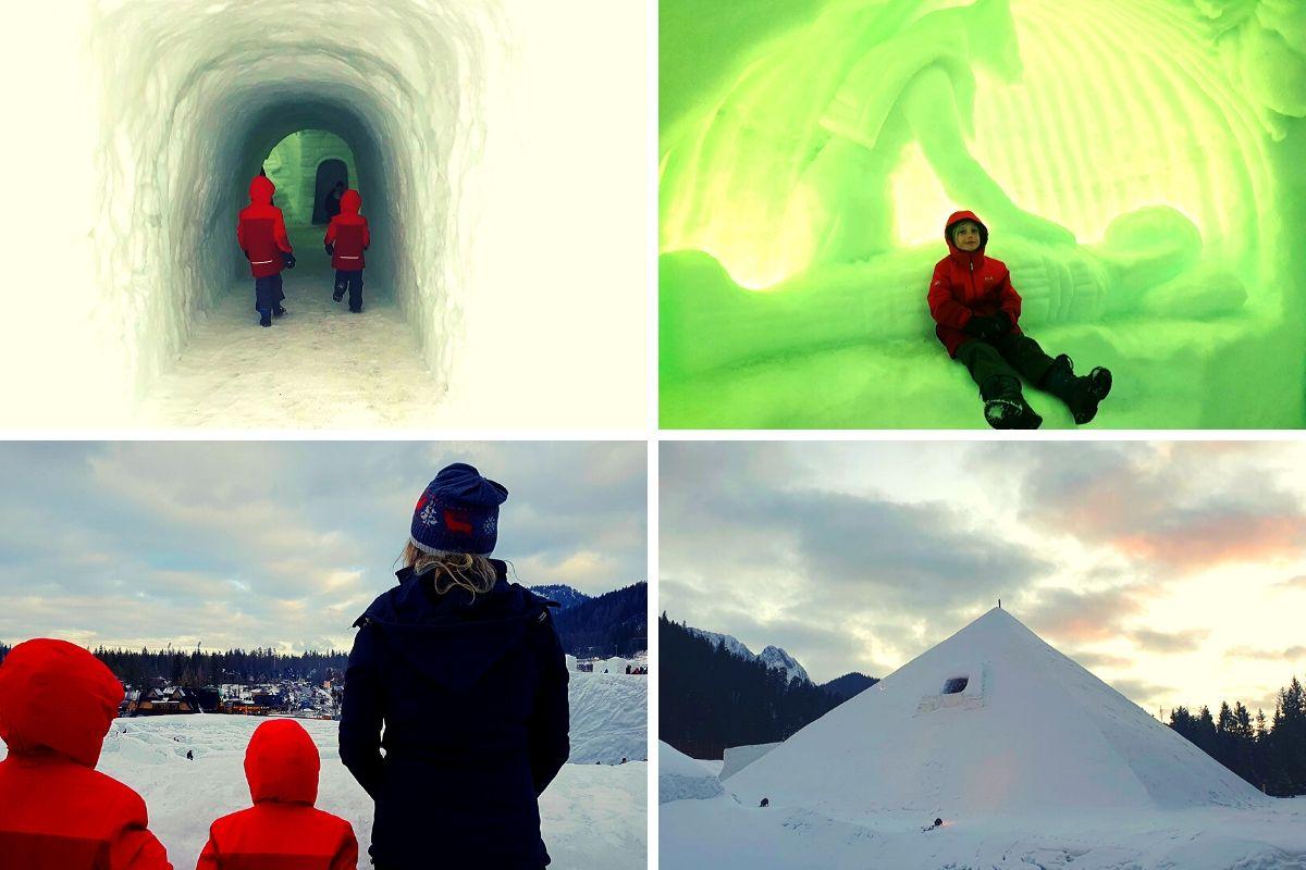 Giant Ice Pyramid at Snowlandia