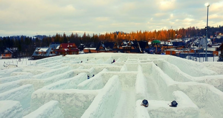 The Snowlandia Maze in Zakopane