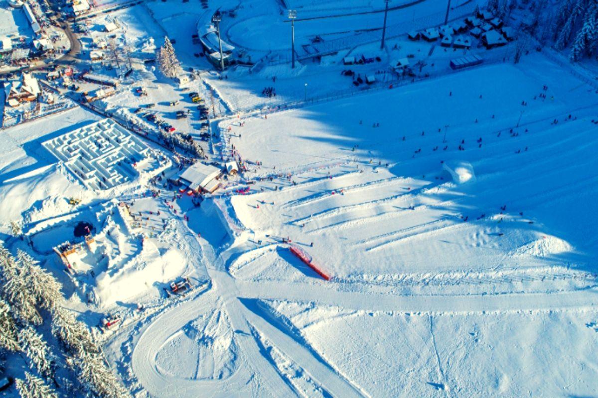 Toboggan run at Snowlandia