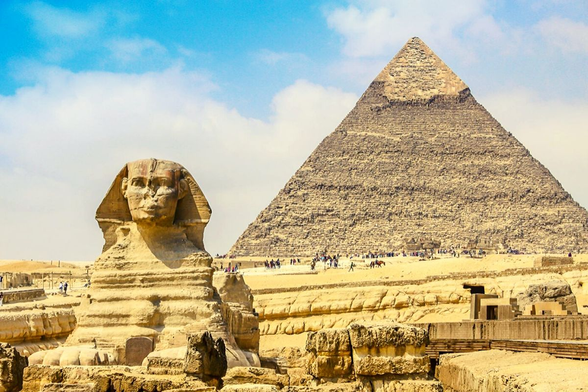 Ancient Pyramids of Giza in Egypt