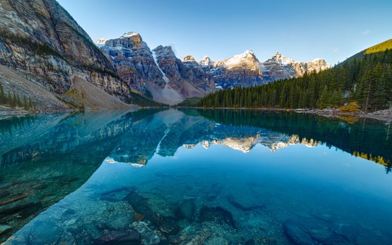 Moraine Lake in Canada Family Travel Destination