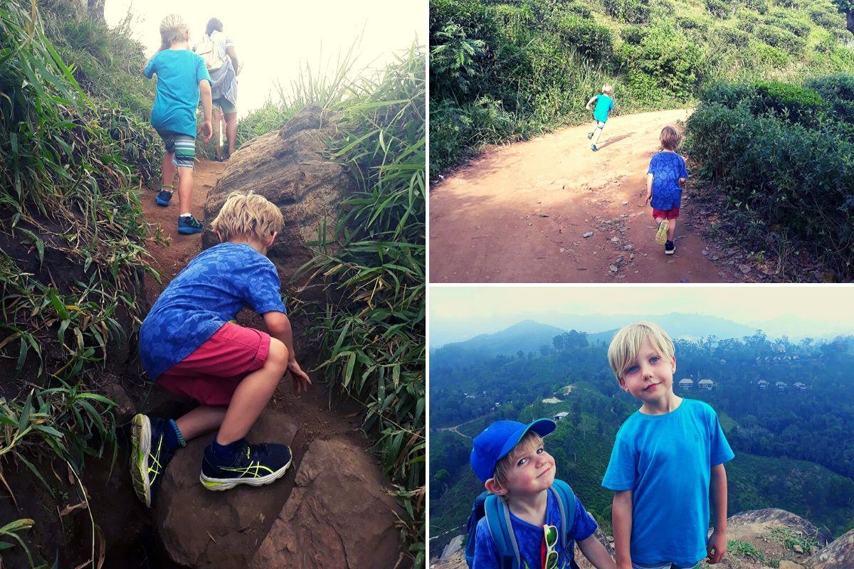 Climbing Little Adam's Peak in Ella Sri Lanka