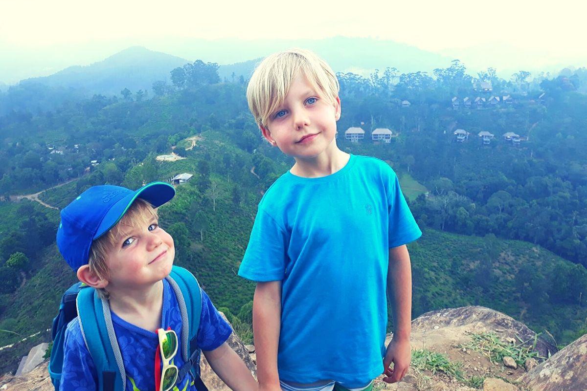 Climbing Little Adam's Peak in Sri Lanka with Kids
