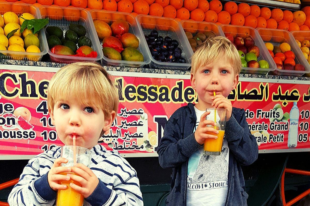 Fresh Orange Juice from a stall in Jemaa el-Fnaa