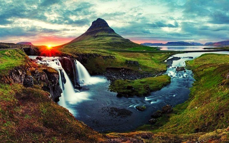 Kirkjufell in Iceland Family travel Destination