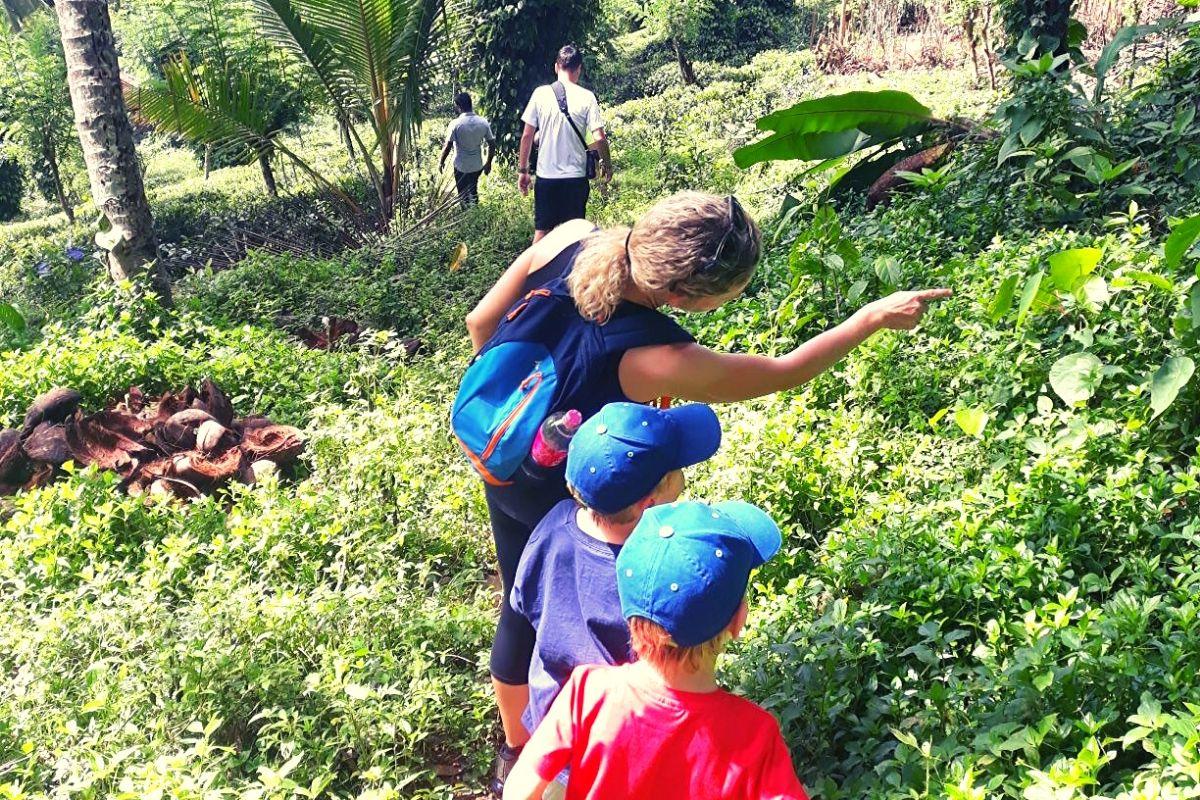 Kids in Sri Lanka on a Spice Tour