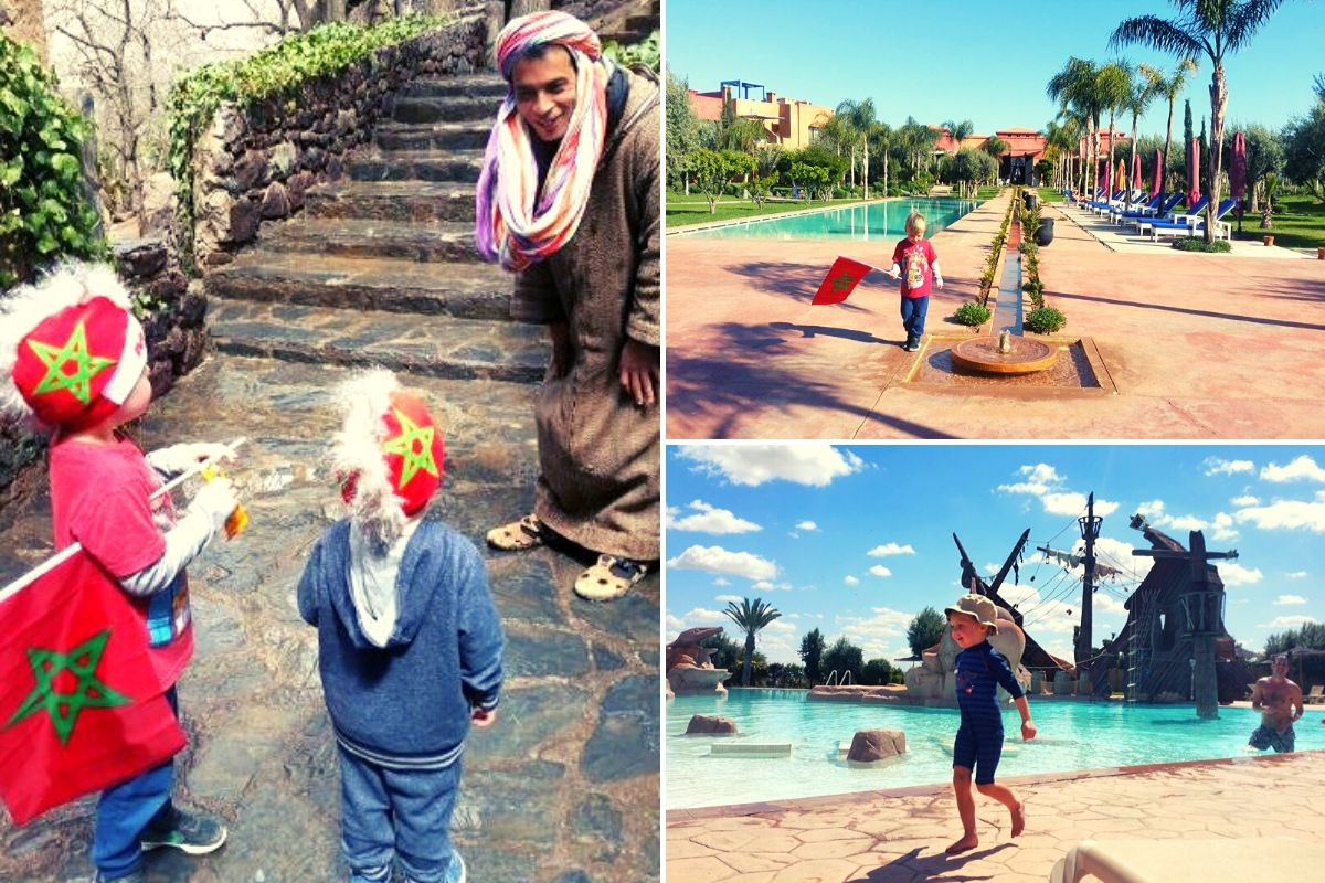 Kids on holidays in Morocco