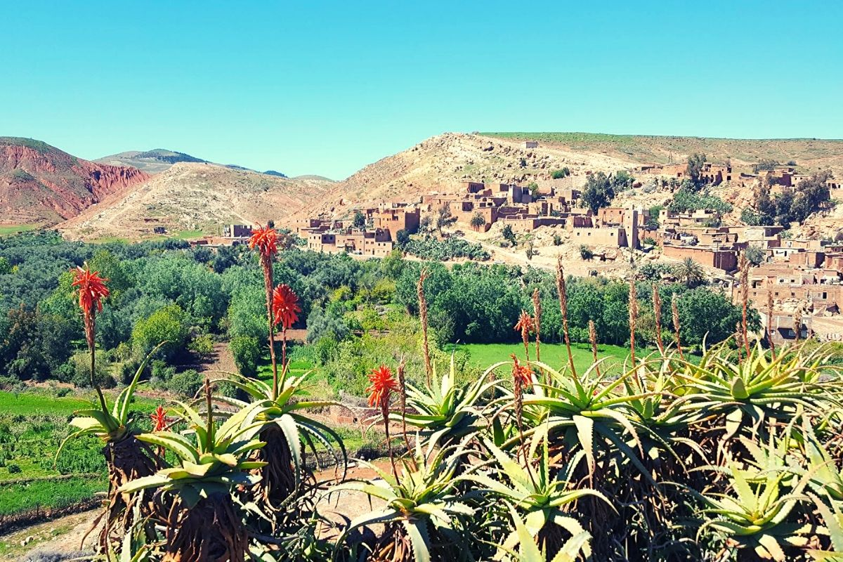 Moroccan berber village on a road trip to the Atlas Mountains