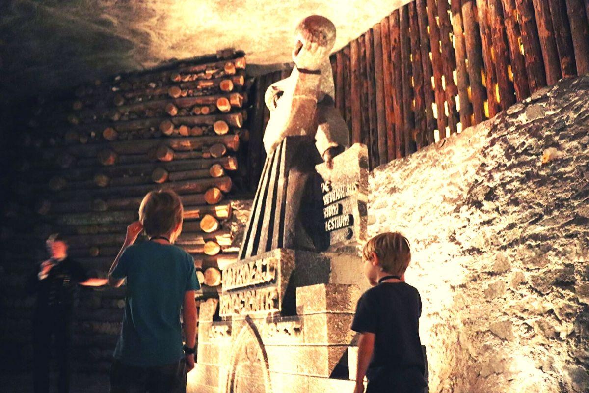 Salt carvings in the Wieliczka Salt Mine