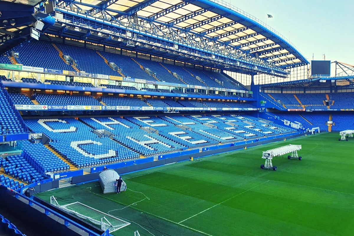 Chelsea Stadium seen from the south end