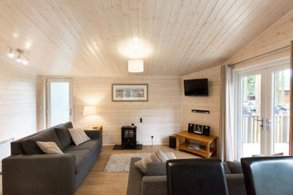 Open plan living room of Tissington Classic Vogue at Landal Sandybrook