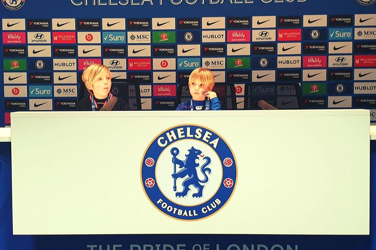 Press Room at Chelsea Football Stadium