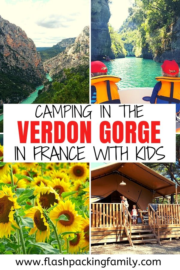 Camping in the Verdon Gorge in France with kids