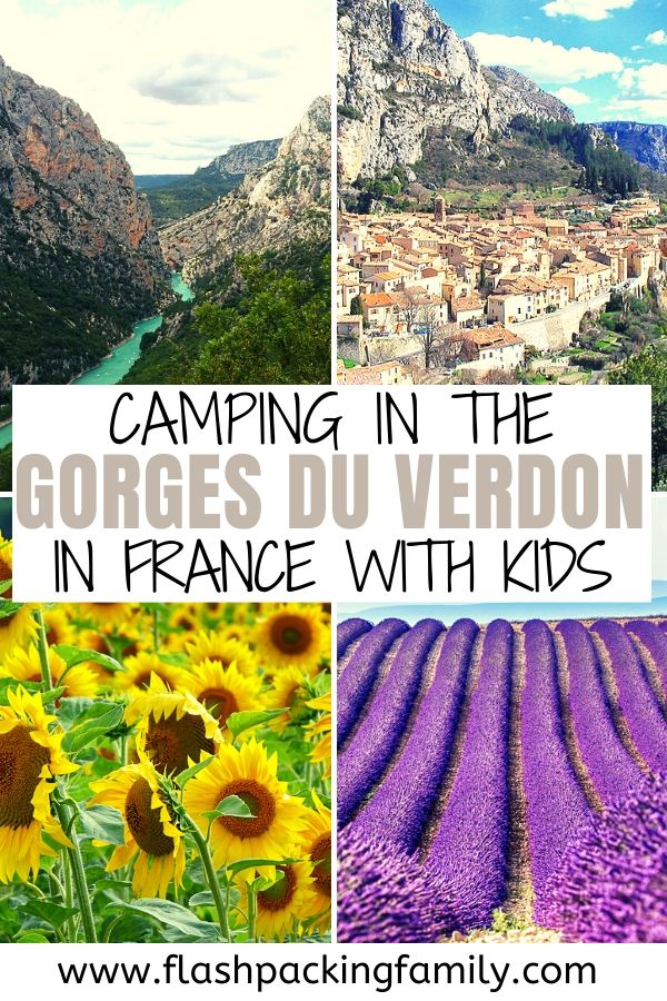 Camping in the gorges du verdon in France with kids