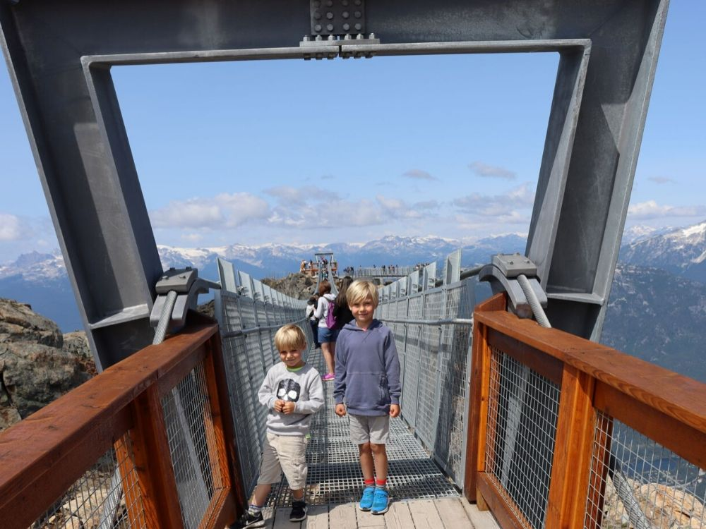 Crossing the Cloudraker Skybridge