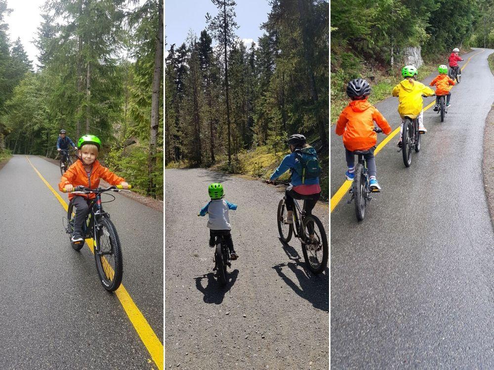 Easy bike trails in Whistler