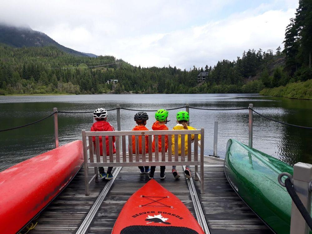 Taking a Break at Nita Lake in Whistler