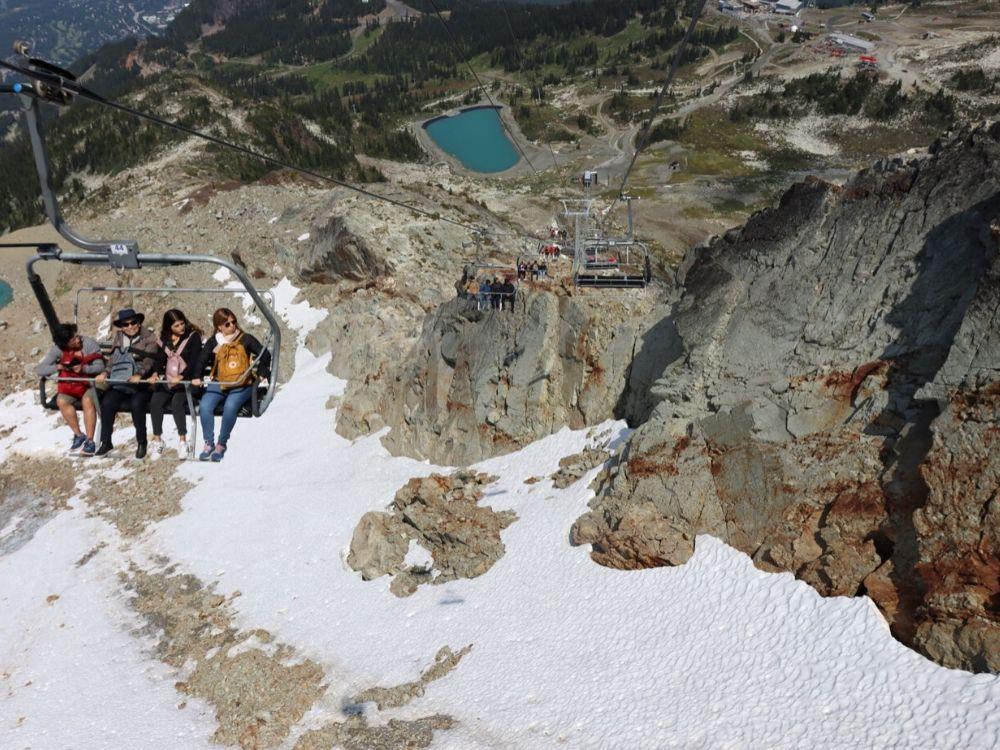 Taking the Whistler Peak Express Chair Lift Down