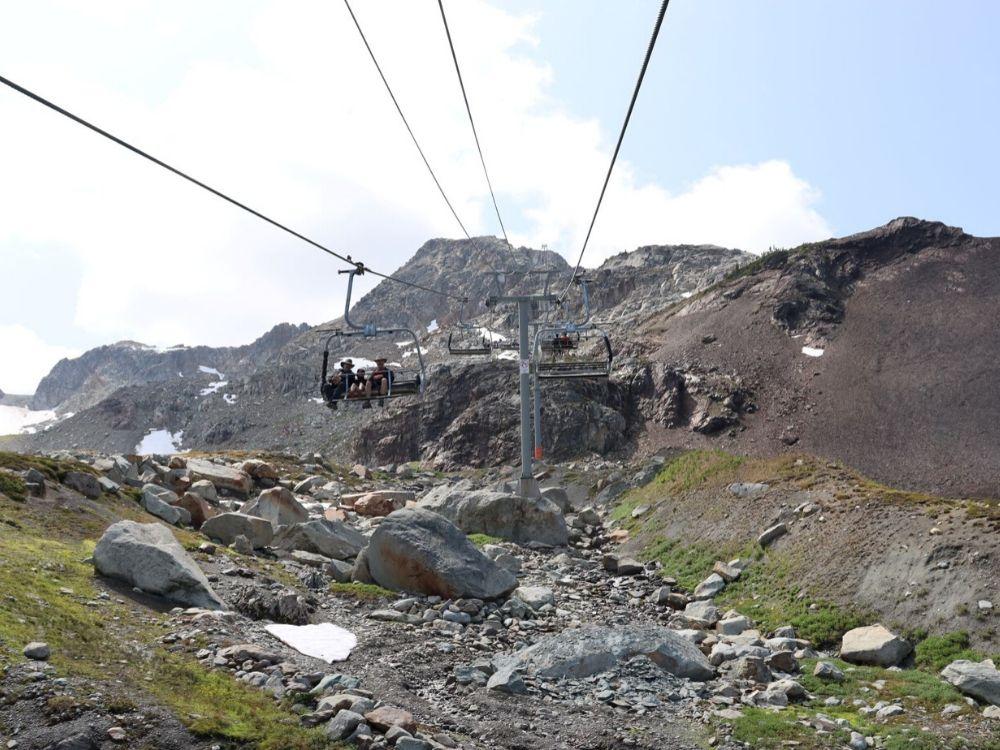 Whistler Peak Express Chair Lift Up