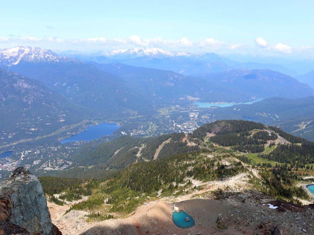 Views over Whistler from Whistler Mountain
