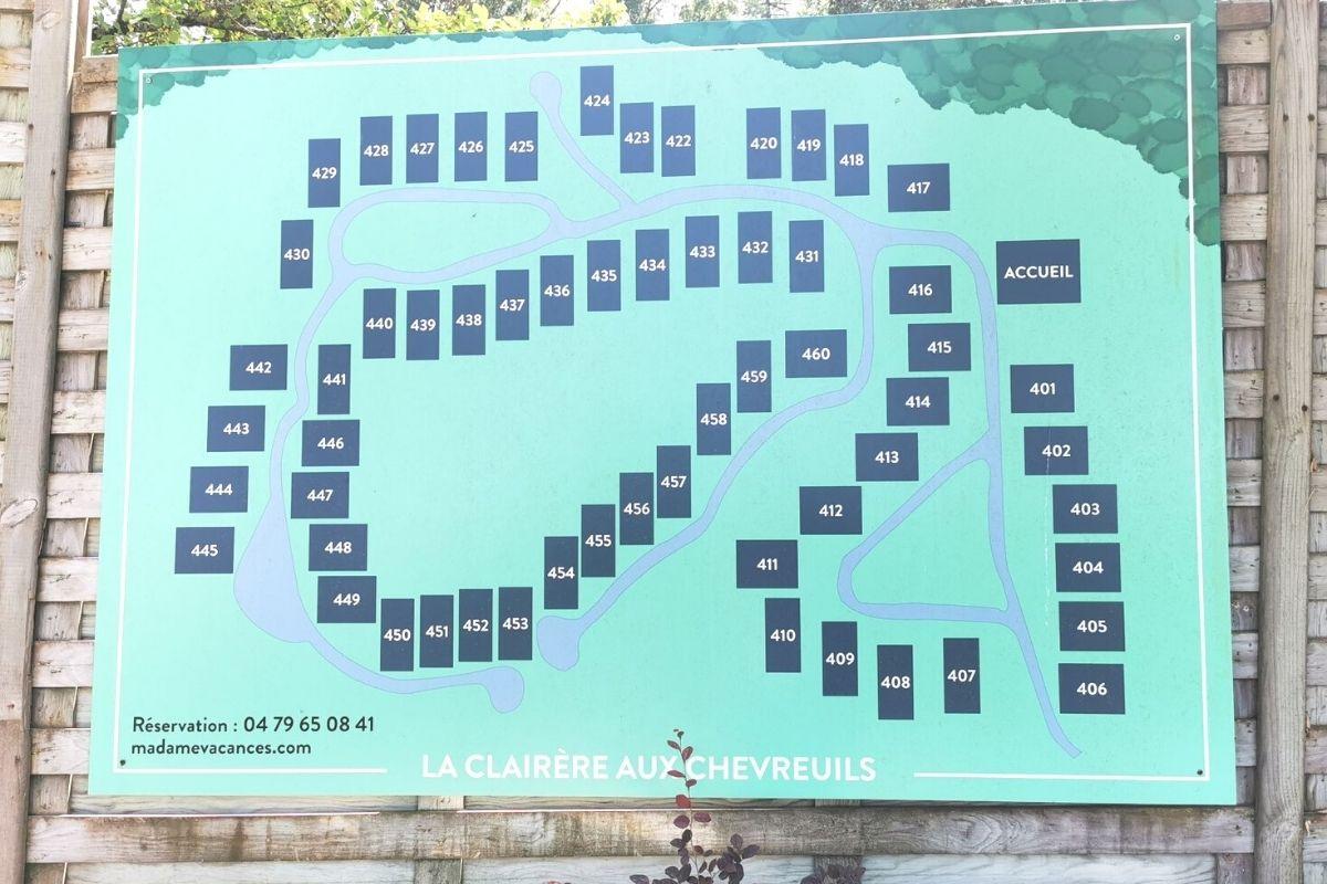 Map of Villas La Clairière aux Chevreuils