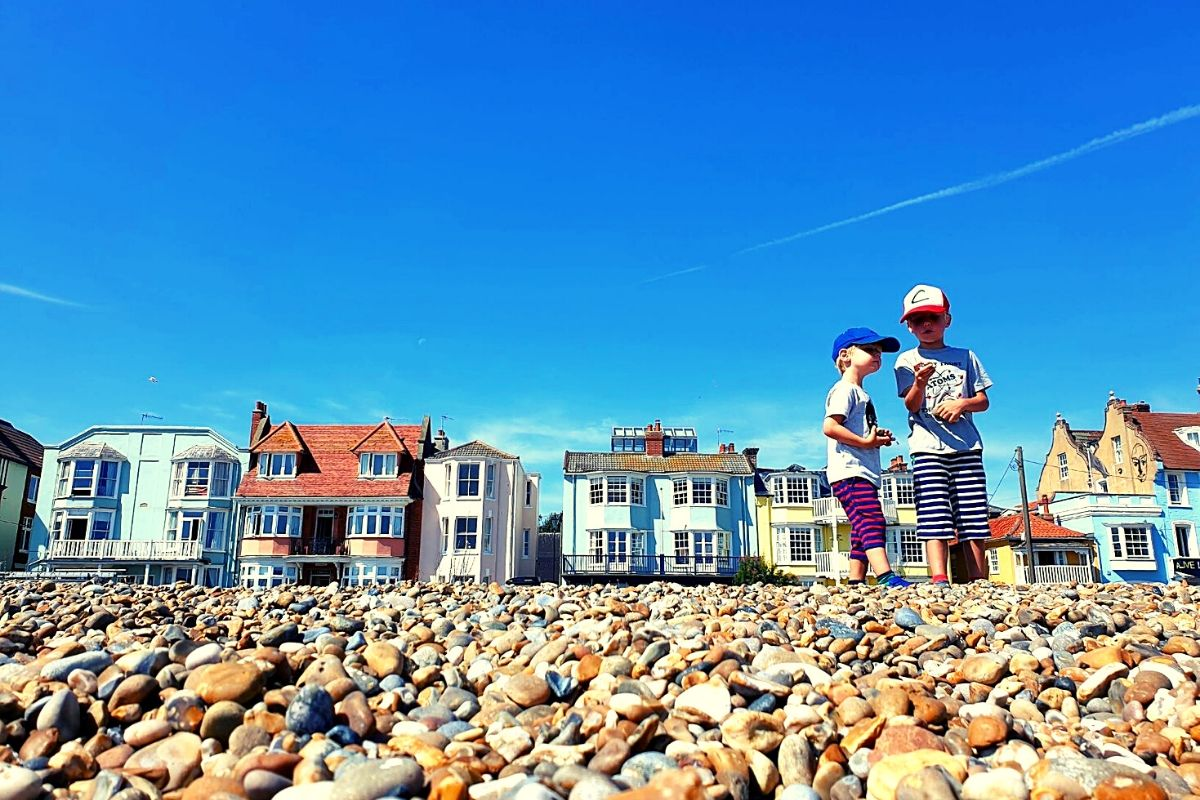 Aldeburgh Beach in Suffolk