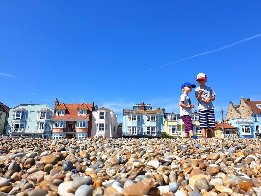Aldeburgh beach - the most famous of the Suffolk beaches