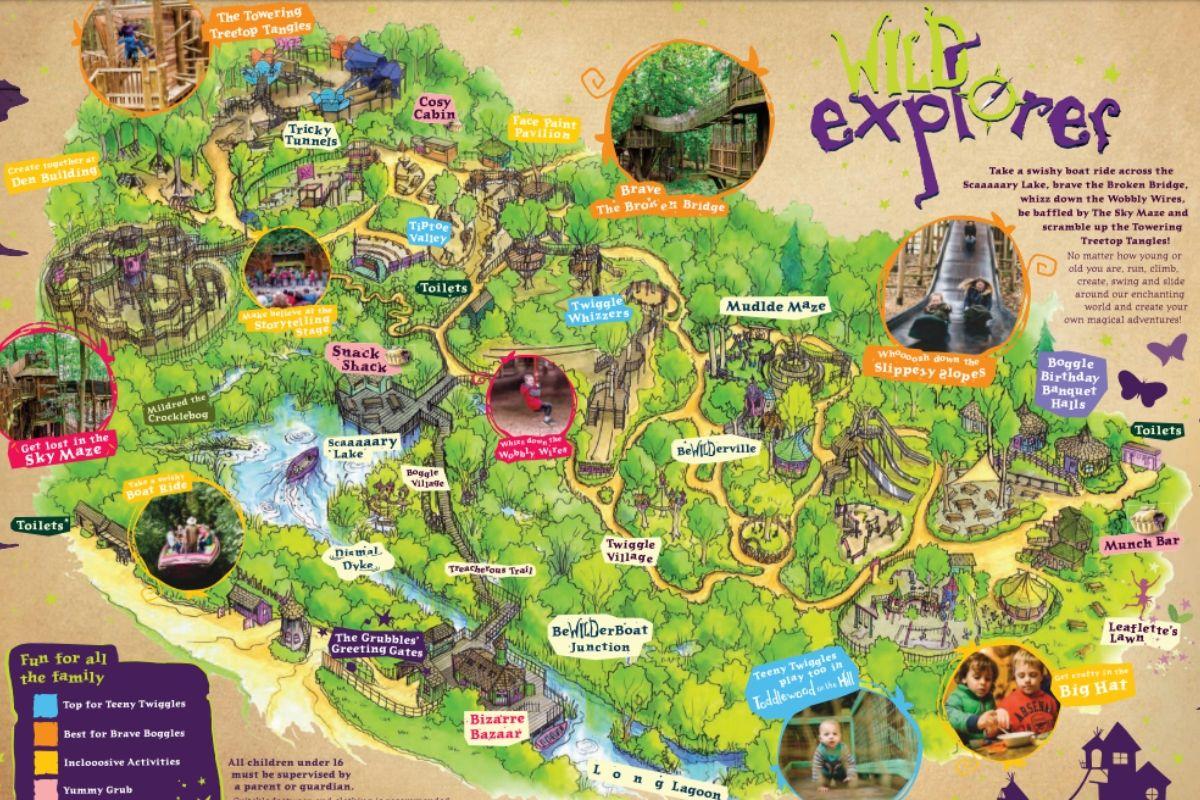 Bewilderwood Map