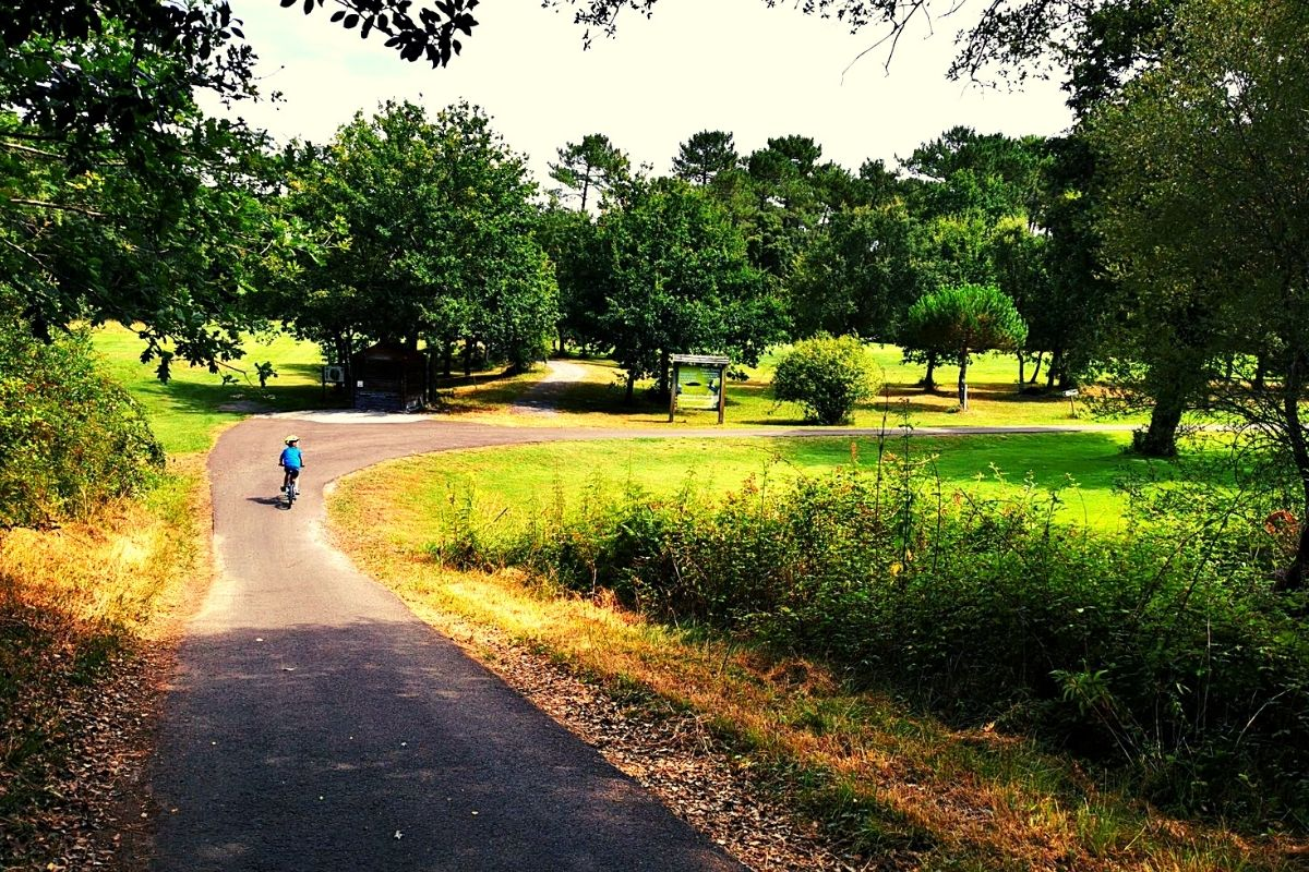 Cycle tracks through Moliets golf course
