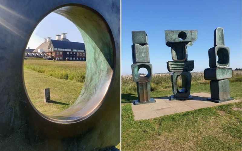 Enjoying the cultural side of Suffolk at Snape Maltings.