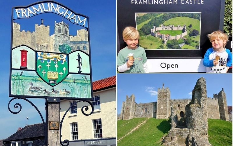Framlingham Castle - one of the many fun things to do in Suffolk with kids.