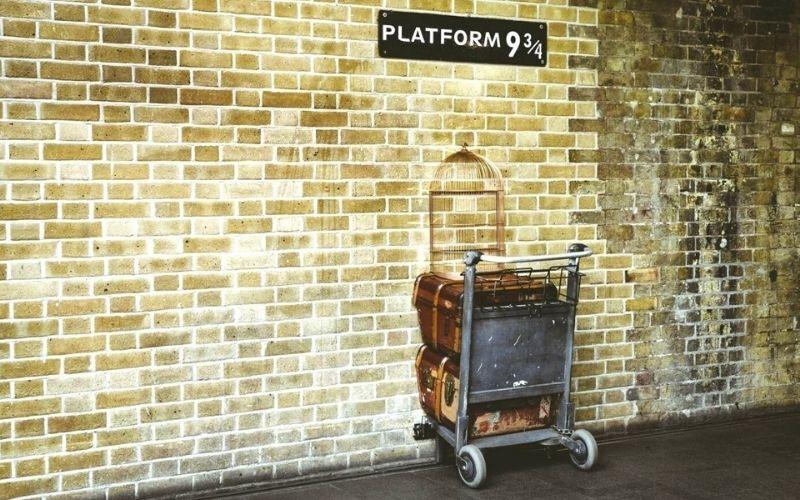 Harry Potter's Platform 9 3/4 at Kings Cross Station