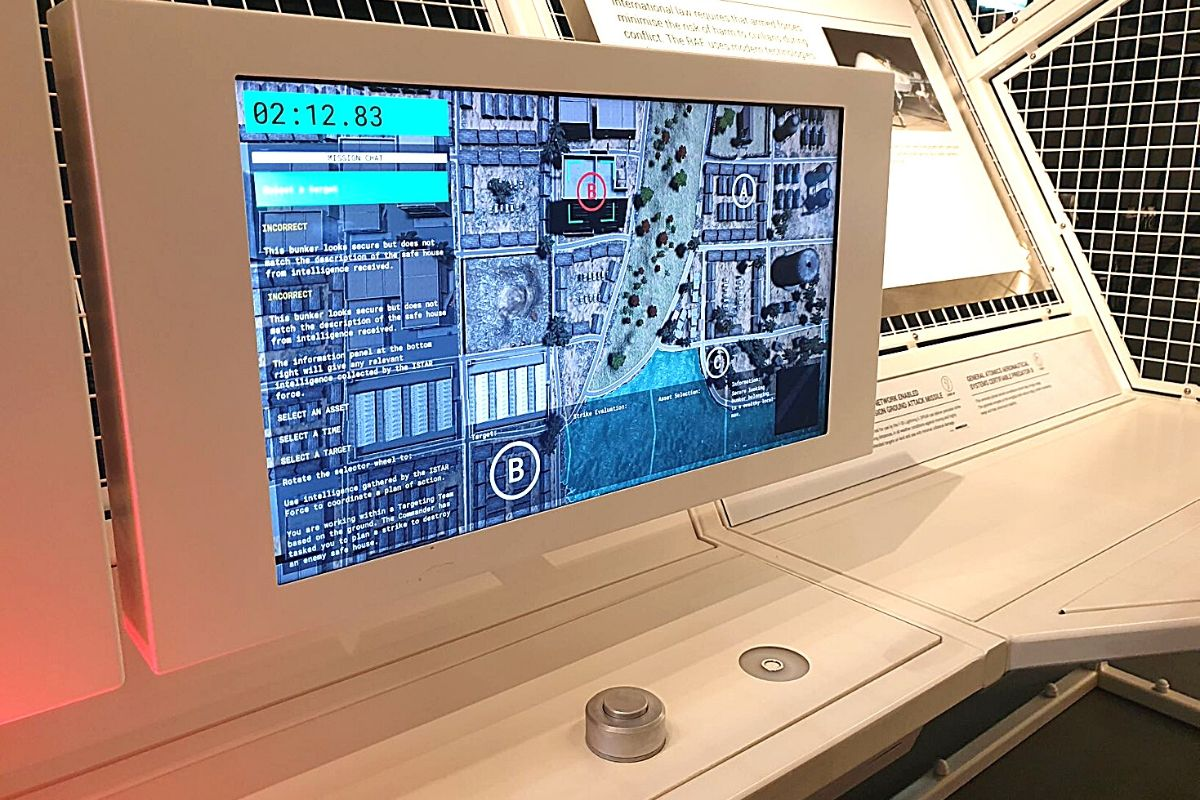 Interactive fun at Mission Control at the RAF Museum London