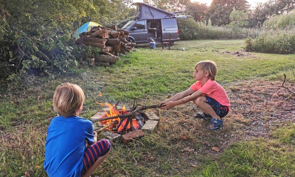Making campfires
