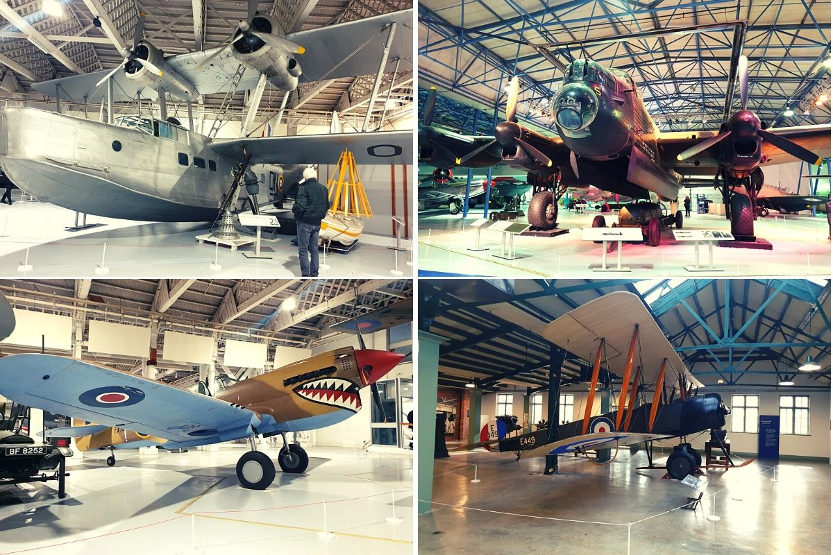 Some of the planes on display at the RAF Museum London